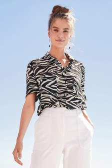 df6f74ad5b685 Womens Shirts | Plain, Striped & Animal Print Shirts | Next UK