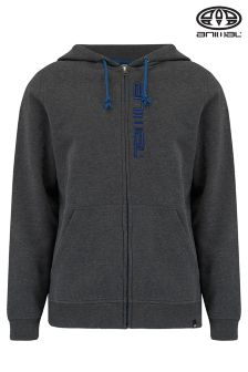 Animal Safou Dark Charcoal Marl Full Zip Hoody