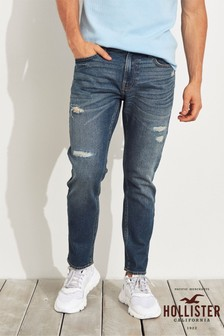 Hollister Dark Wash Ripped Super Skinny Jean