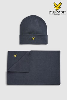 Lyle & Scott Hat And Scarf Set