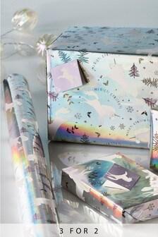 8M Unicorn Christmas Roll Wrap