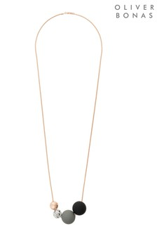 Oliver Bonas Gold Tone Boca Multi Bead Necklace