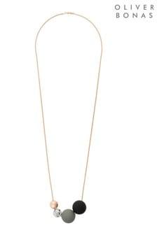 Oliver Bonas Boca Mehrreihige Perlenkette, Goldfarben