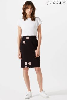 Jigsaw Black Oversized Spot Salena Dress
