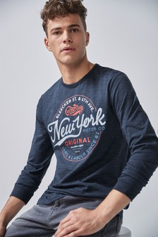Graphic Long Sleeve Regular Fit T-Shirt