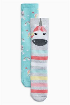 Unicorn Welly Socks Two Pack (Younger)