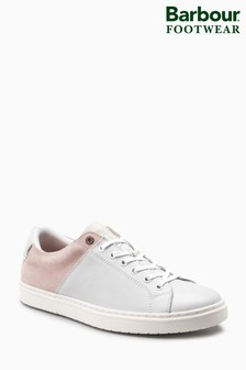 Barbour® Catlina White/Pink Leather Sneaker