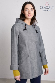 Seasalt Grey Sail Maker Jacket Treninnow Peppercorn