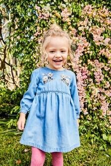 Robe ornée de fleurs (3 mois - 6 ans)