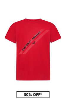 Emporio Armani Boys Red T-Shirt