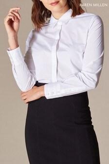 Karen Millen White Sharp Essential Dress Shirt