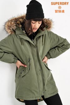 Superdry Khaki Rookie Parka Coat