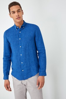Long Sleeve Pure Linen Shirt