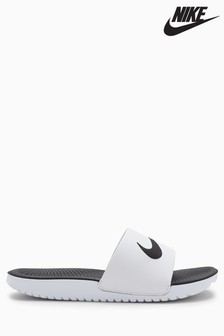 Nike White Kawa Slider