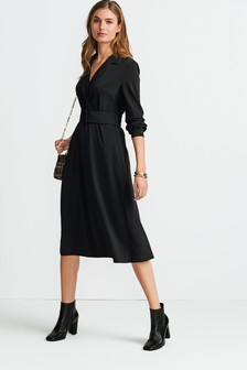 Jersey Belted Midi Dress