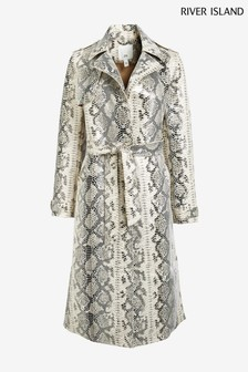 River Island Snake Trench Coat