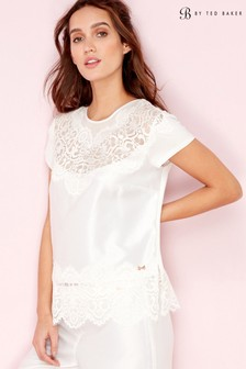 B by Ted Baker Ivory Tie The Knot Bridal Pyjama Top