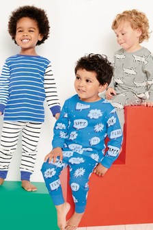 Character/Stripe Snuggle Fit Pyjamas Three Pack (9mths-8yrs)