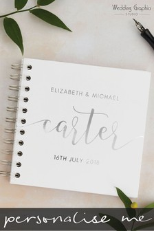 Personalised Foiled Script Wedding Book by Wedding Graphics