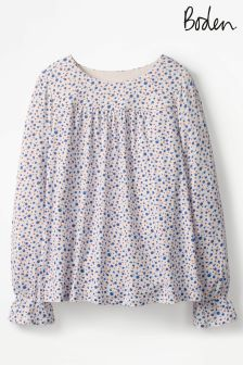 Boden Ivory Ditsy Daisy Kalee Jersey Top