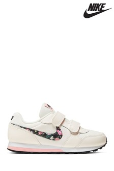 Nike Cream/Floral MD Runner Junior Trainers