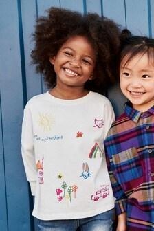 T-Shirt mit Kinderzeichnung (3Monate bis 6Jahre)