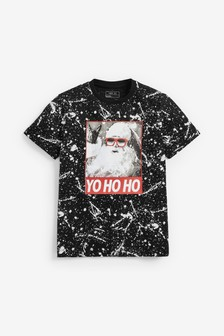 Santa All Over Print Splat T-Shirt (3-16yrs)