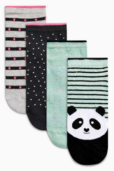 Panda Trainer Socks Four Pack