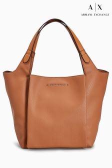 Armani Exchange Tan Hobo Shoulder Bag