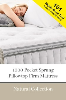 1000 Pocket Sprung Pillowtop Natural Firm Mattress