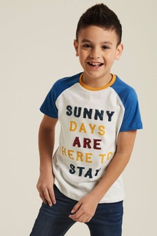 FatFace Natural Sunny Days Graphic T-Shirt