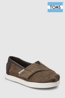 Toms Brown Cord Alpargata Slip-On Shoe