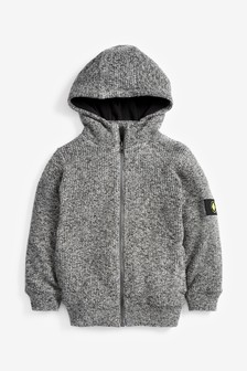 Zip Through Knitted Fleece Lined Hoody (3-16yrs)