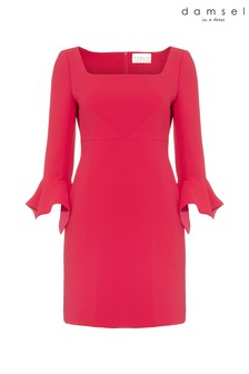 Damsel In A Dress Pink Frida Big Sleeve Dress
