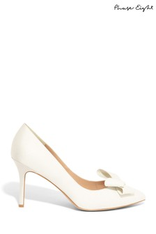 Phase Eight Cream Kara Satin Pointed Court Shoe