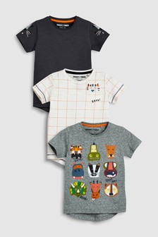 Short Sleeve Character T-Shirts Three Pack (3mths-6yrs)