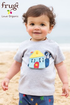 Frugi Organic Changeable Appliqué Farm Gift T-Shirt