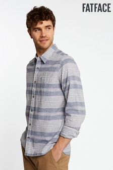 FatFace Blue Seabrook Stripe Shirt
