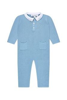 Tartine et Chocolat Baby Boys Blue Cotton All-In-One