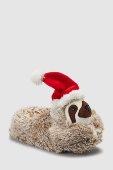 Santa Sloth Slippers (Older)
