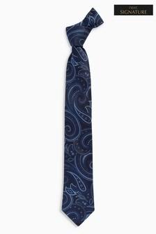 Signature Italian Fabric Paisley Tie