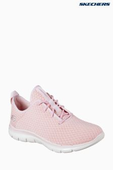 Skechers® Pink Flex Appeal 2.0 Bold Deconstructed Knitted Lace-Up