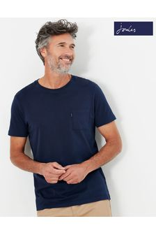 Joules Blue Denton Solid Crew Neck T-Shirt
