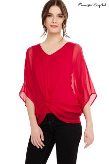 Phase Eight Raspberry Adelle Silk Blouse