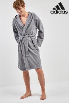 adidas灰色浴袍
