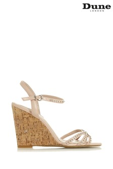 Dune London Nude Cork Diamanté Dressy Sandal