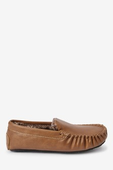 Warm Lined Moccasin Slippers (Older)