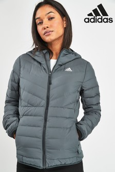 adidas Charcoal Varilite Hooded Jacket