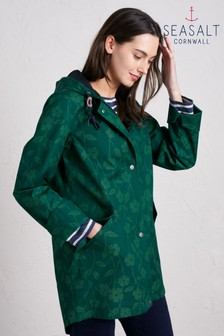 Seasalt Green Bowsprit Jacket Torn Campion Verte