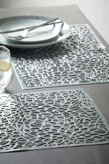 4 Metallic Cut Placemats
